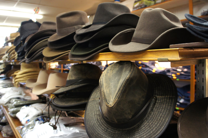 Hats at Stokes General Store in Front Royal